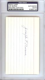 "Joseph ""Joe"" Burns Autographed 3x5 Index Card Boston Braves PSA/DNA #83862128"