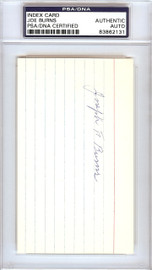 "Joseph ""Joe"" Burns Autographed 3x5 Index Card Boston Braves PSA/DNA #83862131"