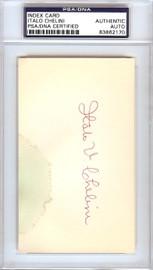 Italo Chelini Autographed 3x5 Index Card Chicago White Sox PSA/DNA #83862170