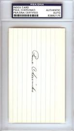 Paul Chervinko Autographed 3x5 Index Card Brooklyn Dodgers PSA/DNA #83862175