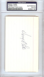 Harry Chiti Autographed 3x5 Index Card New York Mets, Chicago Cubs PSA/DNA #83862186