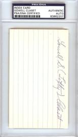 "Gowell ""Lefty"" Claset Autographed 3x5 Index Card Philadelphia A's PSA/DNA #83862207"