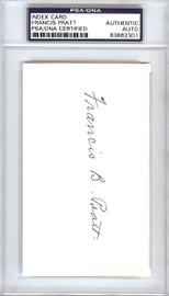 Frank Pratt Autographed 3x5 Index Card Chicago White Sox PSA/DNA #83862301