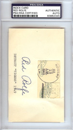 Red Rolfe Autographed 3x5 Index Card New York Yankees PSA/DNA #83862345