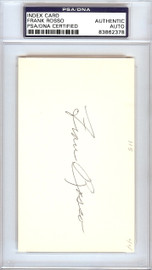 """Francis """"Frank"""" Rosso Autographed 3x5 Index Card New York Giants PSA/DNA #83862378"""
