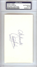 """Vinicio """"Chico"""" Garcia Autographed 3x5 Index Card Baltimore Orioles PSA/DNA #83862514"""