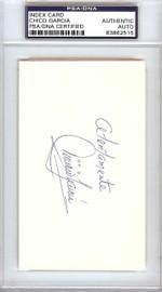 """Vinicio """"Chico"""" Garcia Autographed 3x5 Index Card Baltimore Orioles PSA/DNA #83862515"""
