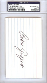 Calvin Griffith Autographed 3x5 Index Card Minnesota Twins Owner PSA/DNA #83862554
