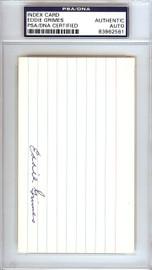 """Eddie """"Ed"""" Grimes Autographed 3x5 Index Card St. Louis Browns PSA/DNA #83862561"""