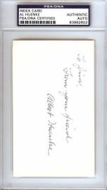 "Albert ""Al"" Huenke Autographed 3x5 Index Card New York Giants ""To Jim"" PSA/DNA #83862602"