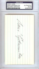 Sam Edmonston Autographed 3x5 Index Card Washington Senators PSA/DNA #83862838