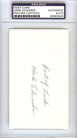 """Hank Edwards Autographed 3x5 Index Card Chicago Cubs """"Best of Luck"""" PSA/DNA #83862846"""