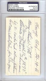 Clarence Pete Fahrer Autographed 3x5 Index Card Cincinnati Reds PSA/DNA #83862870