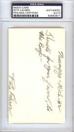 Clarence Pete Fahrer Autographed 3x5 Index Card Cincinnati Reds PSA/DNA #83862871