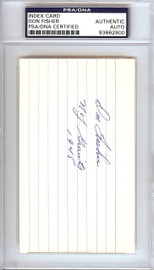 "Don Fisher Autographed 3x5 Index Card New York Giants ""N.Y. Giants 1945"" PSA/DNA #83862900"