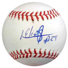 Roenis Elias Autographed Official MLB Baseball Boston Red Sox MCS Holo #43028