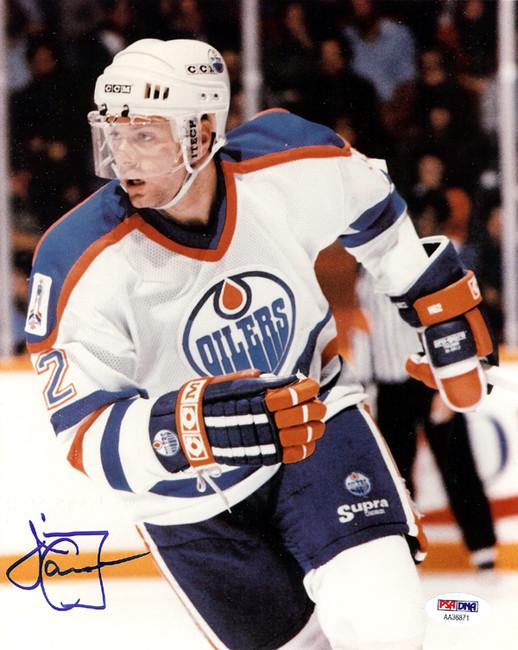 Jimmy Carson Autographed 8x10 Photo Edmonton Oilers PSA/DNA #AA36871