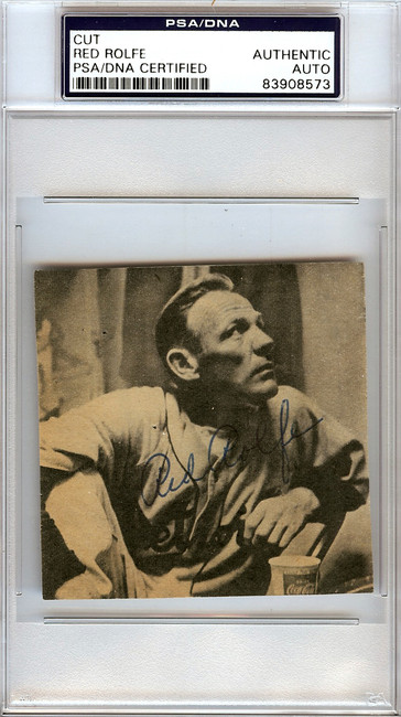 Red Rolfe Autographed 3x3 Newspaper Page Photo New York Yankees, Detroit Tigers PSA/DNA #83908573