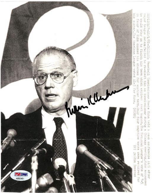 Bowie Kuhn Autographed 7x9 Photo Commissioner PSA/DNA #AB50451