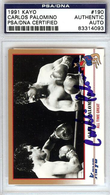 Carlos Palomino Autographed 1991 Kayo Card #190 PSA/DNA #83314093