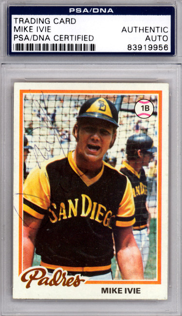 Mike Ivie Autographed 1978 Topps Card #445 San Diego Padres PSA/DNA #83919956