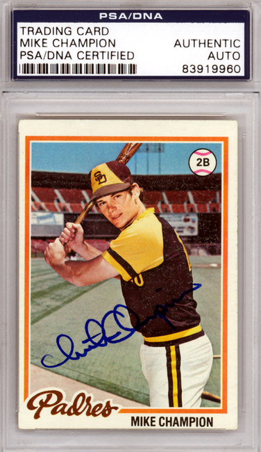 Mike Champion Autographed 1978 Topps Card #683 San Diego Padres PSA/DNA #83919960