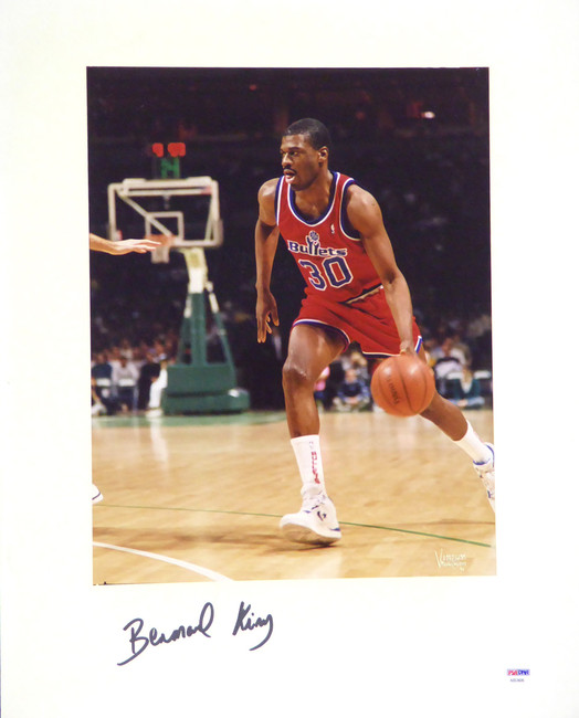 Bernard King Autographed 16x20 Matted Photo Washington Bullets PSA/DNA #AB53606