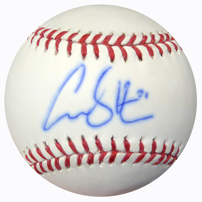 Carson Smith Autographed Official MLB Baseball Boston Red Sox MCS Holo #18817