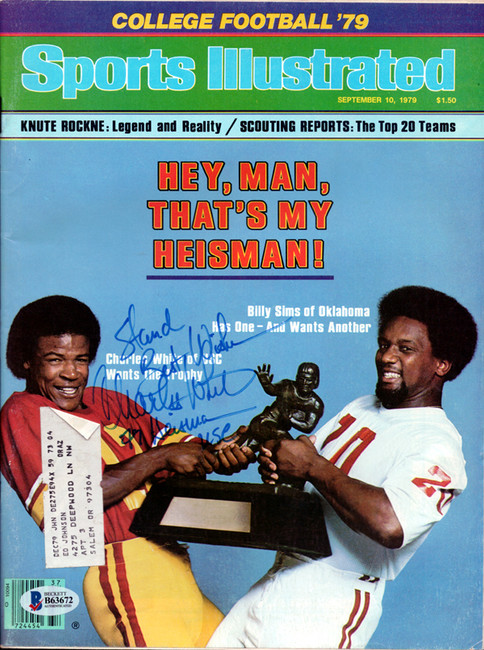 """Charles White Autographed Sports Illustrated Magazine USC Trojans """"To Stan"""" Beckett BAS #B63672"""