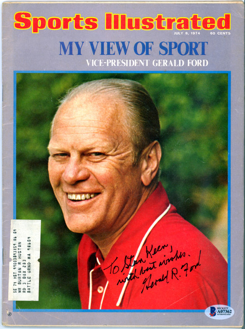 """Gerald Ford Autographed Sports Illustrated Magazine """"To Stan Best Wishes"""" Beckett BAS #A07362"""