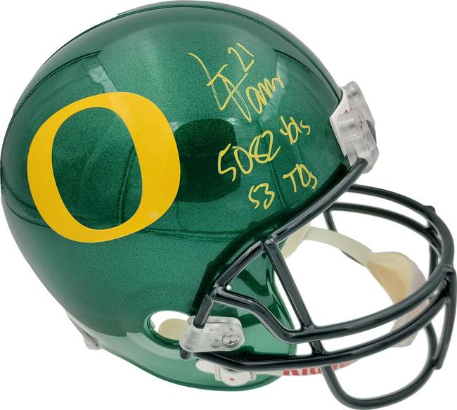 "LaMichael James Autographed Oregon Ducks Full Size Helmet ""5082 Yds, 53 TD's"" PSA/DNA RookieGraph Stock #22758"