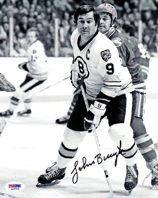John Bucyk Autographed 8x10 Photo Boston Bruins PSA/DNA #L64924