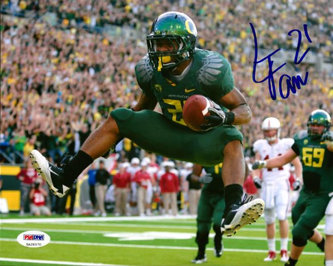 LaMichael James Autographed 8x10 Photo Oregon Ducks PSA/DNA Stock #64944