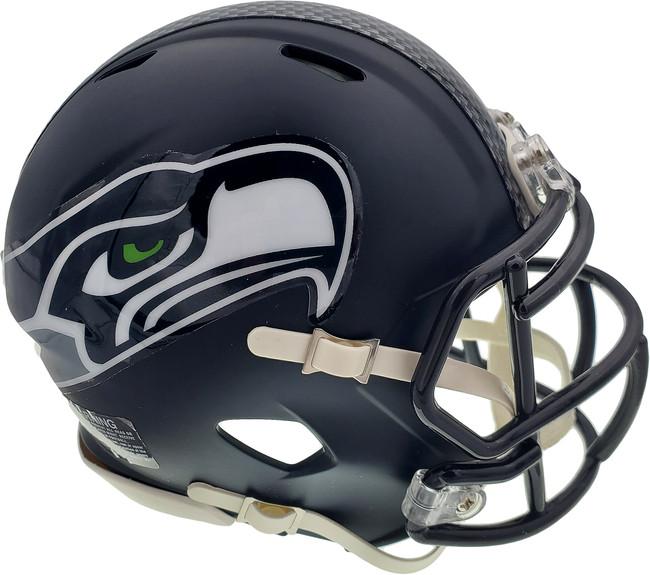 Unsigned Seattle Seahawks Blue Speed Mini Helmet Stock #90876