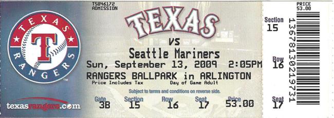 Ichiro Suzuki Unsigned 200th Hit Game Unused Ticket Seattle Mariners Unsigned Stock #93059
