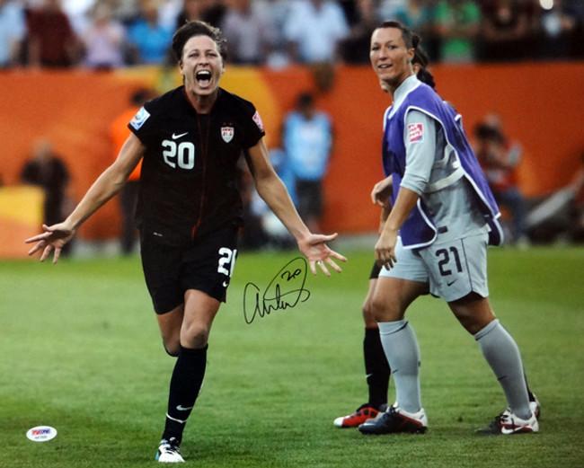 Abby Wambach Autographed 16x20 Photo Team USA PSA/DNA Stock #101885