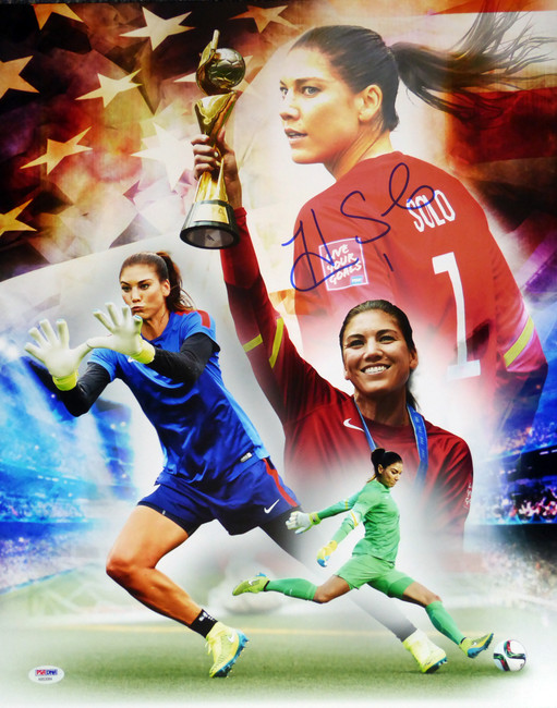 Hope Solo Autographed 16x20 Photo Team USA PSA/DNA Stock #104209