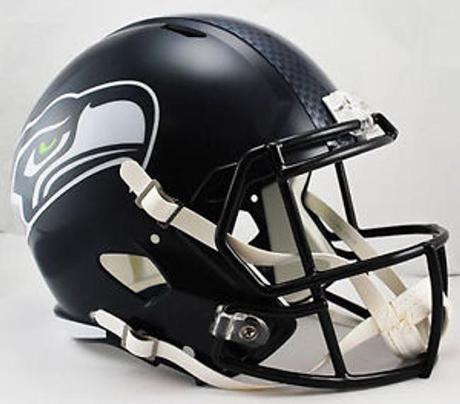 Unsigned Seattle Seahawks Full Size Replica Speed Helmet Stock #105704