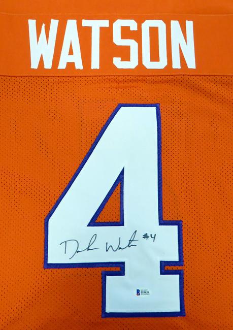Clemson Tigers Deshaun Watson Autographed Orange Jersey Beckett BAS Stock #113696