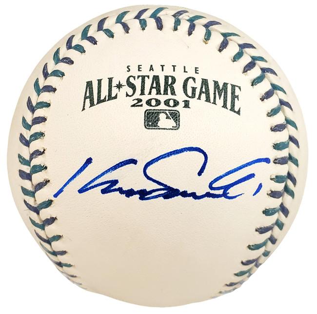 Kazuhiro Sasaki Autographed Official 2001 All Star Baseball Seattle Mariners In Staedtler Beckett BAS Stock #115088