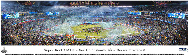Seattle Seahawks Super Bowl XLVIII Unsigned 13.5x40 Panoramic Photo Stock #124037