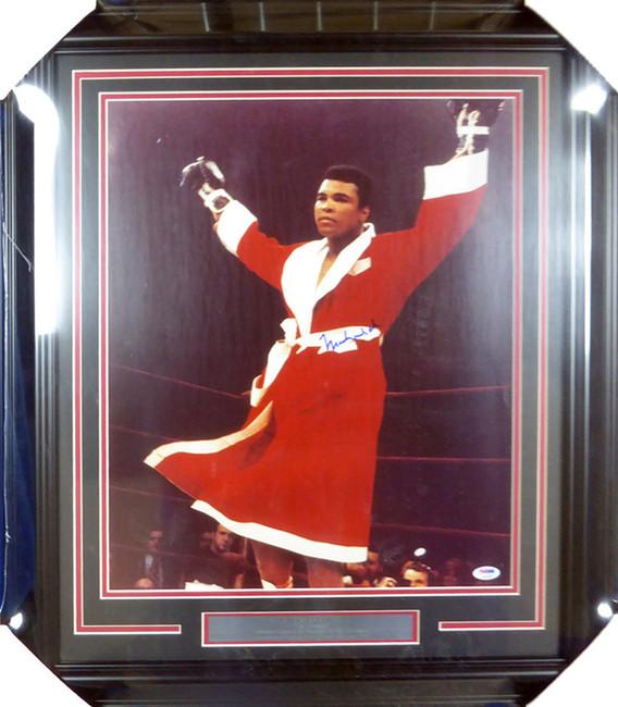 Muhammad Ali Autographed Framed 16x20 Photo PSA/DNA #S14049