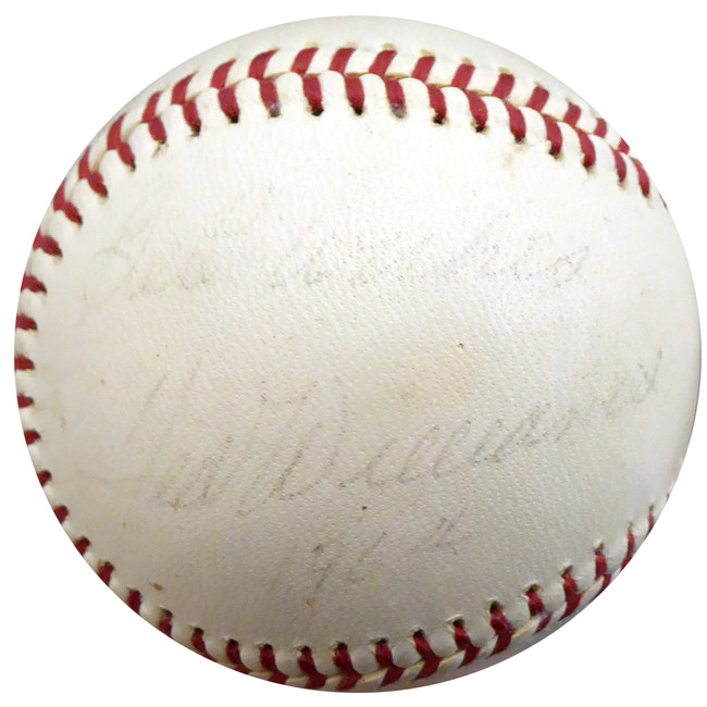 """Ted Williams Autographed Official AL Cronin Baseball Boston Red Sox """"Best Wishes"""" Vintage Signed In 1964 Beckett BAS #A89085"""