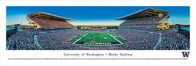 University Of Washington Huskies Unsigned 13.5x40 Panoramic Photo Stock #131515