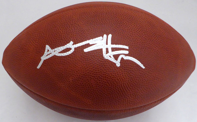 Antonio Brown Autographed NFL Leather Football Pittsburgh Steelers Beckett BAS Stock #131960