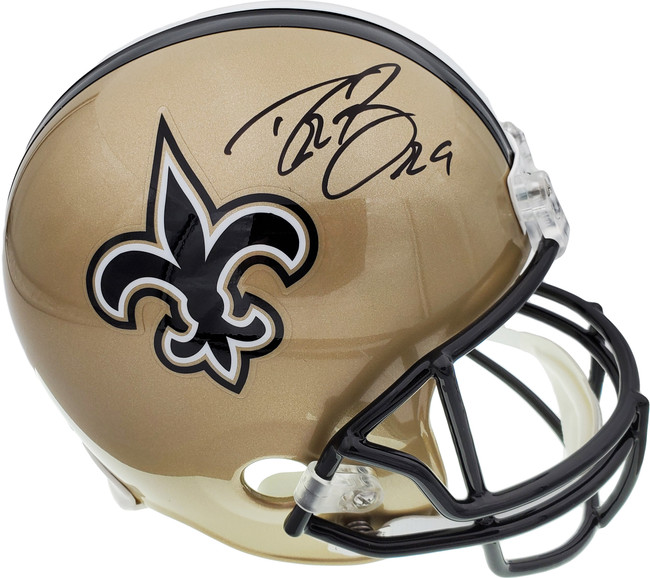 Drew Brees Autographed New Orleans Saints Full Size Replica Helmet Beckett BAS Stock #135081