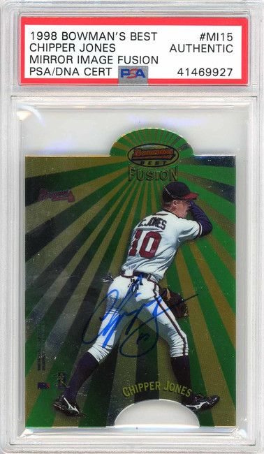 Chipper Jones Autographed 1998 Bowman's Best Card #MI15 Atlanta Braves PSA/DNA #41469927