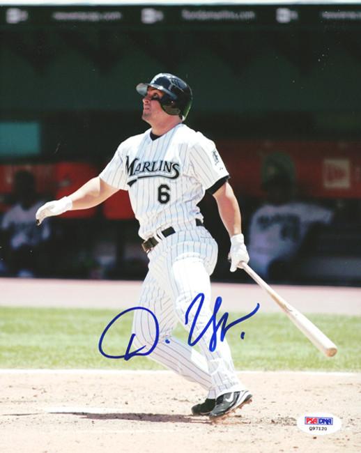 Dan Uggla Autographed 8x10 Photo Florida Marlins PSA/DNA #Q97120