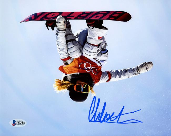 Chloe Kim Autographed 8x10 Photo Team USA Women's Snowboarding 2018 Winter Olympics Beckett BAS Stock #144534