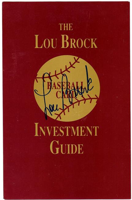 Lou Brock Autographed 5.5x8.5 Guide St. Louis Cardinals Stock #106132